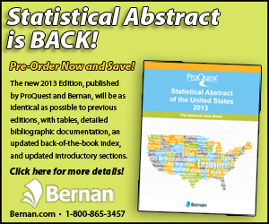 Bernan - Statistical Abscract is Back